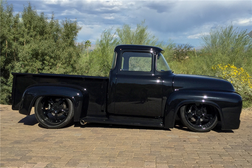1956 FORD F-100 CUSTOM PICKUP - Side Profile - 189746