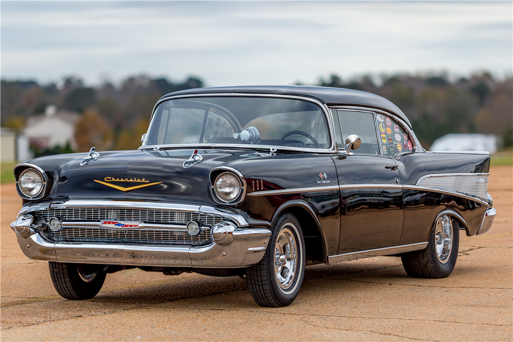 1957 CHEVROLET BEL AIR RACE CAR - Front 3/4 - 189750