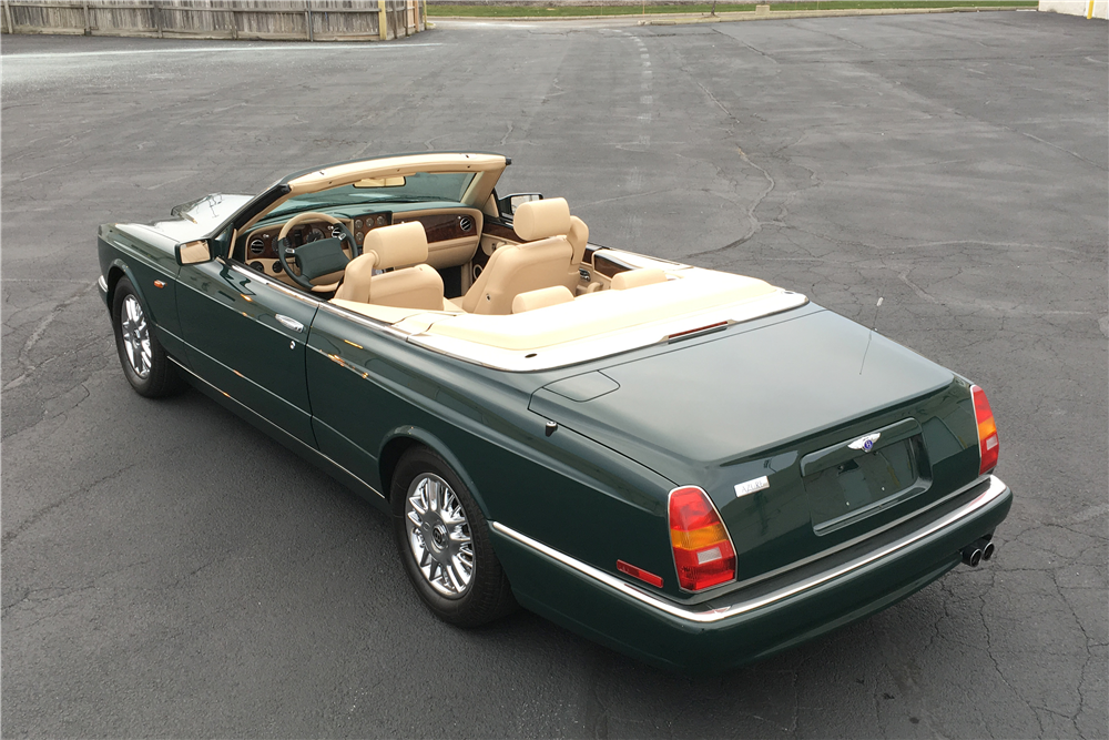 1998 BENTLEY AZURE CONVERTIBLE - Rear 3/4 - 189758