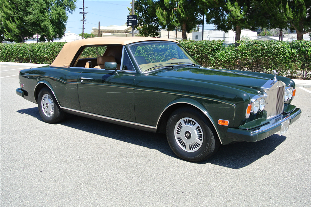 1988 ROLLS-ROYCE CORNICHE II CONVERTIBLE - Side Profile - 189761