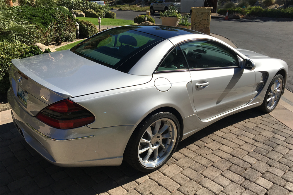 2003 MERCEDES-BENZ SL55 CONVERTIBLE - Rear 3/4 - 189796