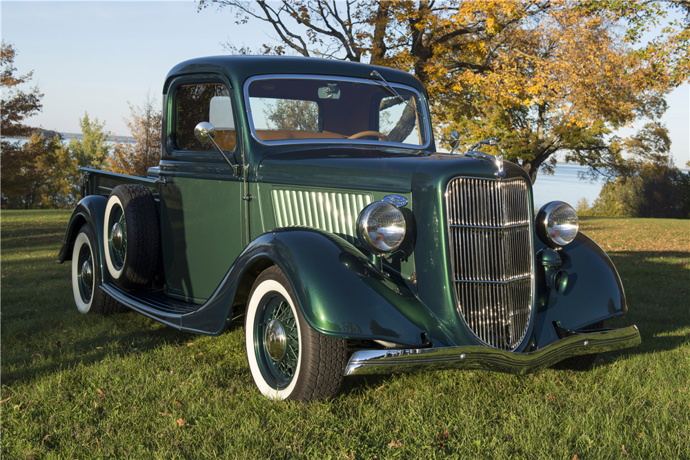 1936 FORD HALF-TON CUSTOM PICKUP - Front 3/4 - 189801