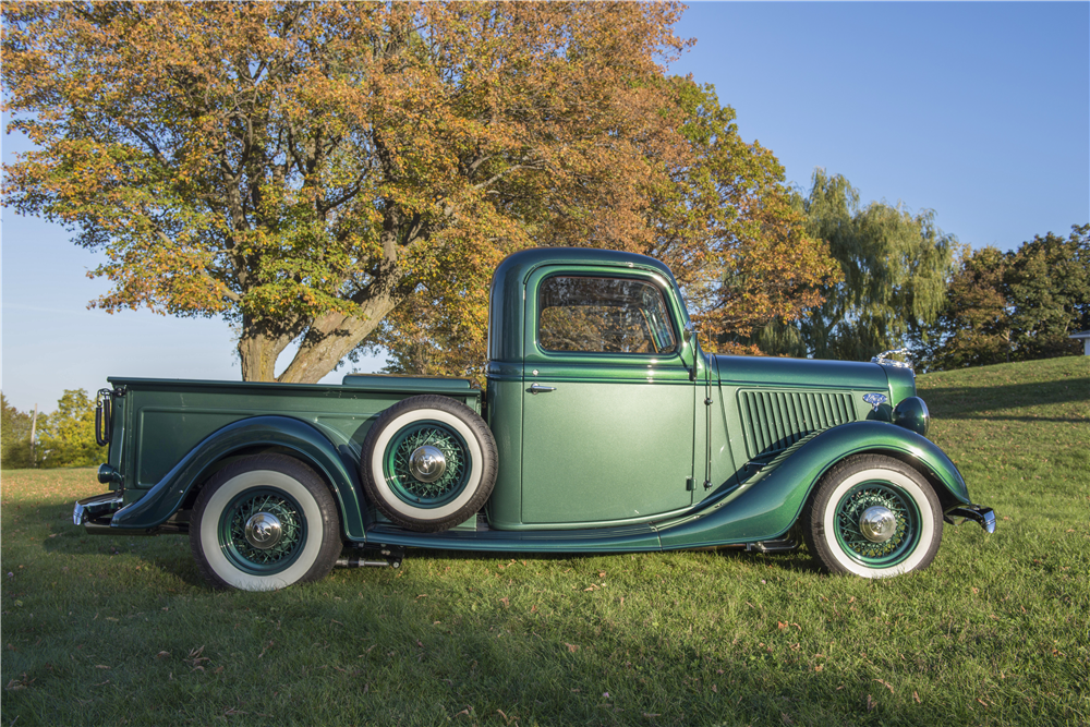 1936 FORD HALF-TON CUSTOM PICKUP - Side Profile - 189801