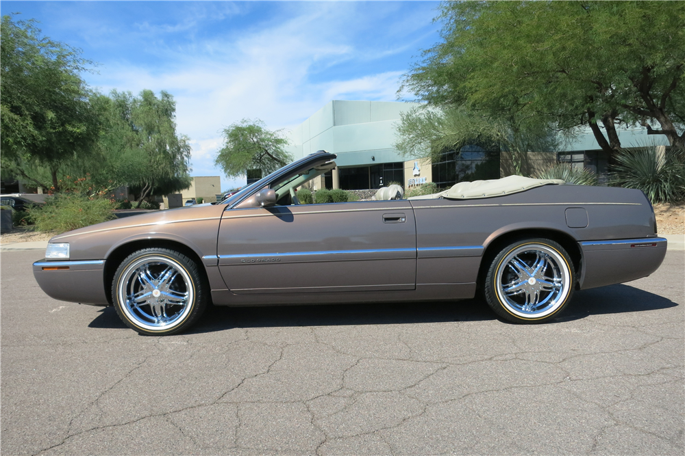 1995 CADILLAC ELDORADO CONVERTIBLE - Side Profile - 189812