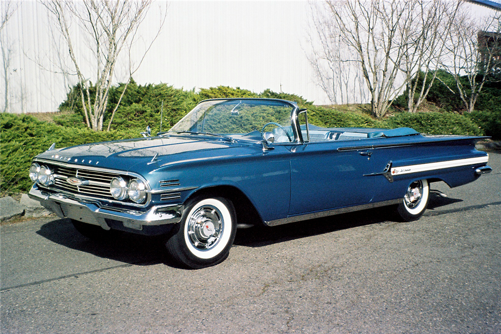 1960 CHEVROLET IMPALA CONVERTIBLE - Front 3/4 - 189815
