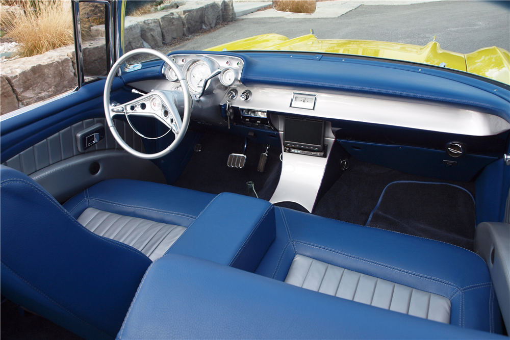 1957 CHEVROLET BEL AIR CONVERTIBLE - Interior - 189830