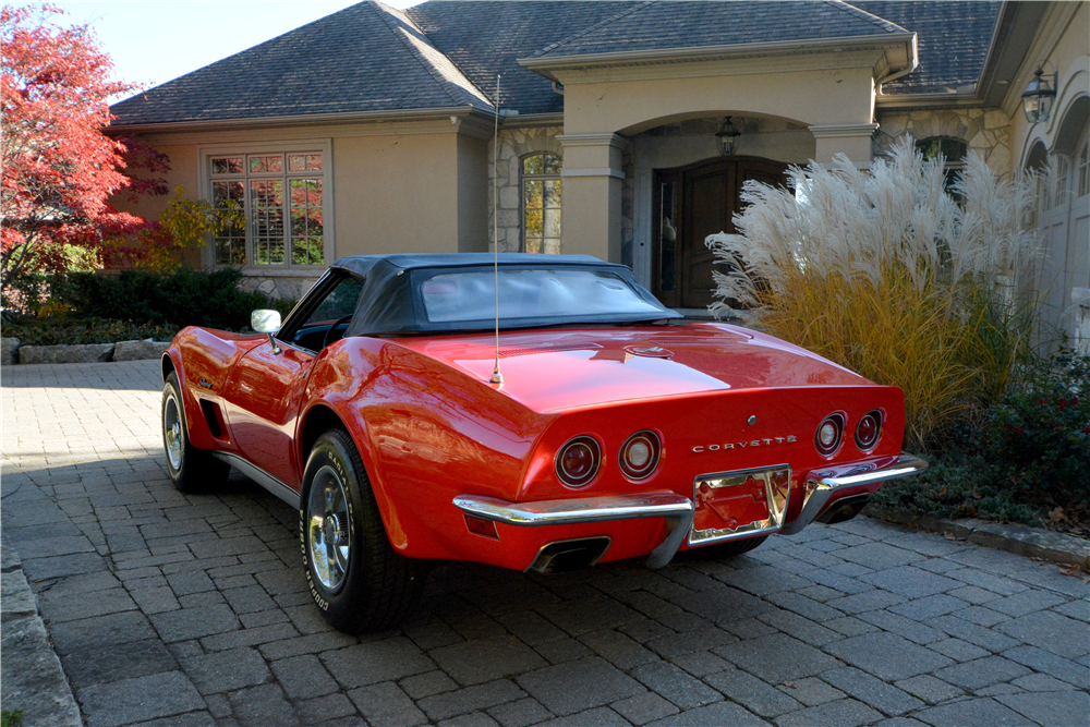 1973 CHEVROLET CORVETTE CONVERTIBLE - Rear 3/4 - 189831