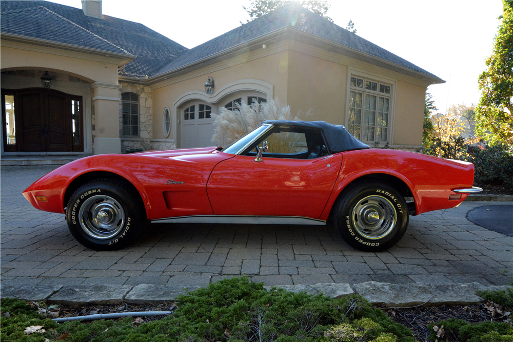 1973 CHEVROLET CORVETTE CONVERTIBLE - Side Profile - 189831