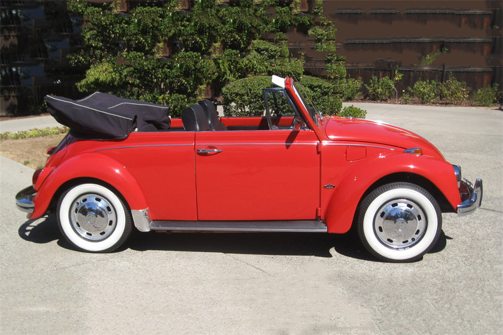 1968 VOLKSWAGEN BEETLE CONVERTIBLE - Side Profile - 189837