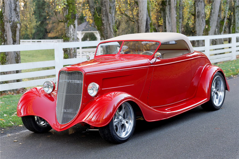 1933 FORD 2-DOOR ROADSTER - Front 3/4 - 189846