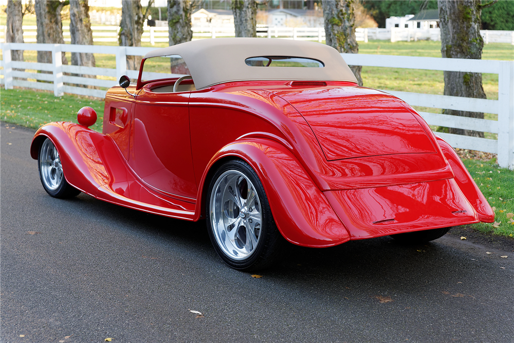 1933 FORD 2-DOOR ROADSTER - Rear 3/4 - 189846