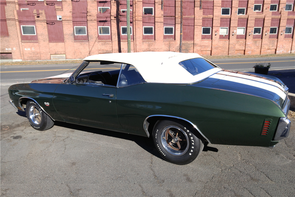1970 CHEVROLET CHEVELLE LS6 CONVERTIBLE - Rear 3/4 - 189853