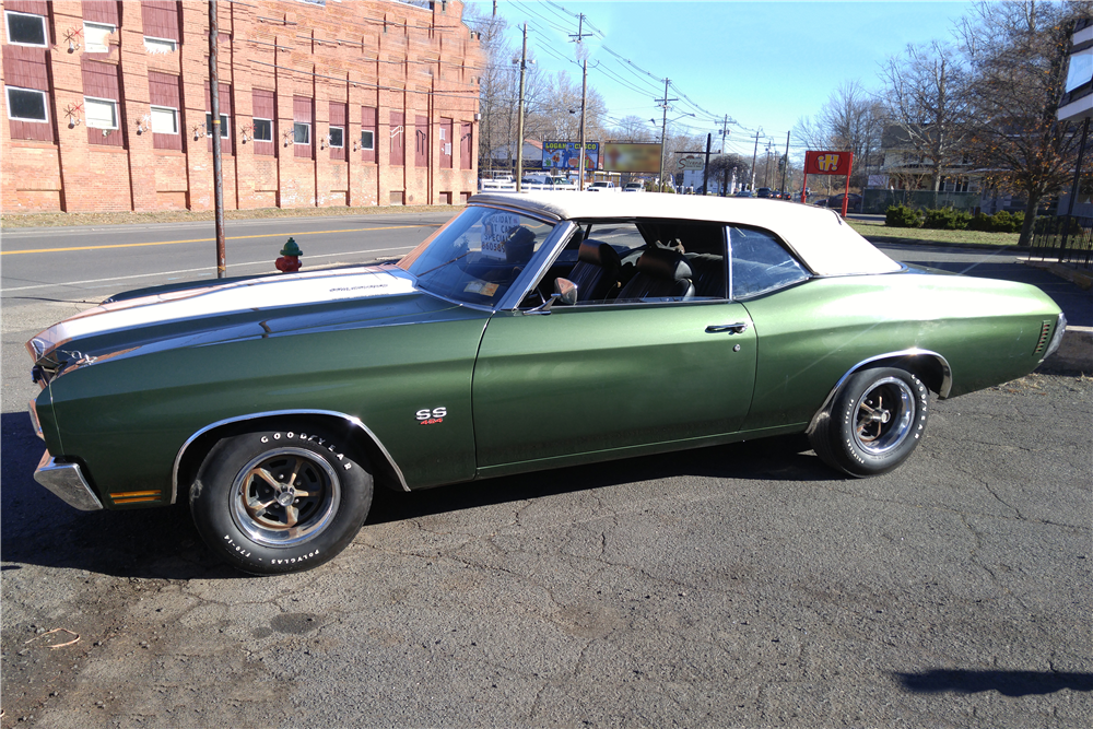 1970 CHEVROLET CHEVELLE LS6 CONVERTIBLE - Side Profile - 189853