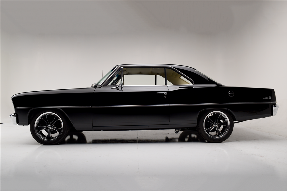 1966 CHEVROLET NOVA CUSTOM COUPE - Side Profile - 189855