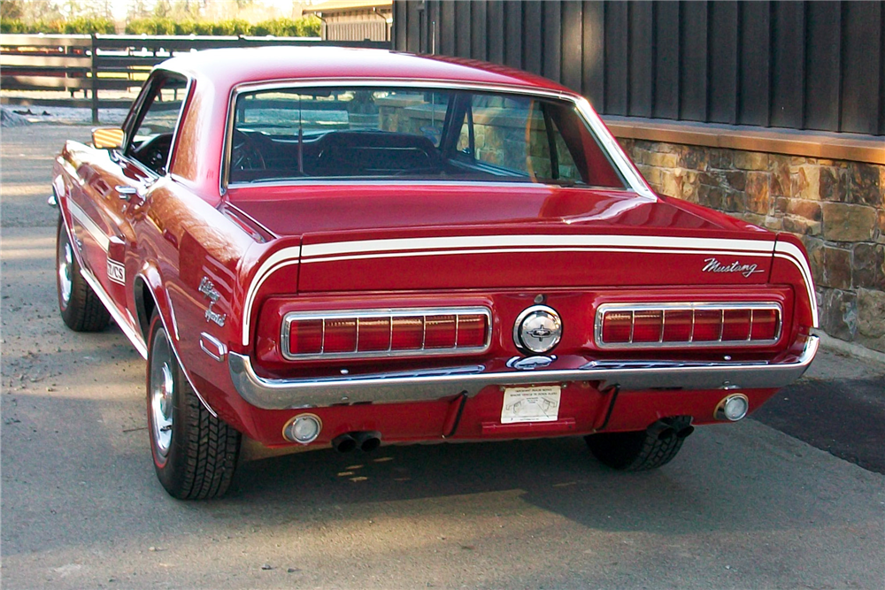 1968 FORD MUSTANG CALIFORNIA SPECIAL - Rear 3/4 - 189887