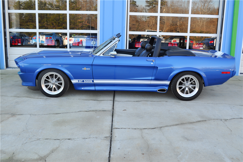 1968 FORD MUSTANG CUSTOM CONVERTIBLE - Side Profile - 189921