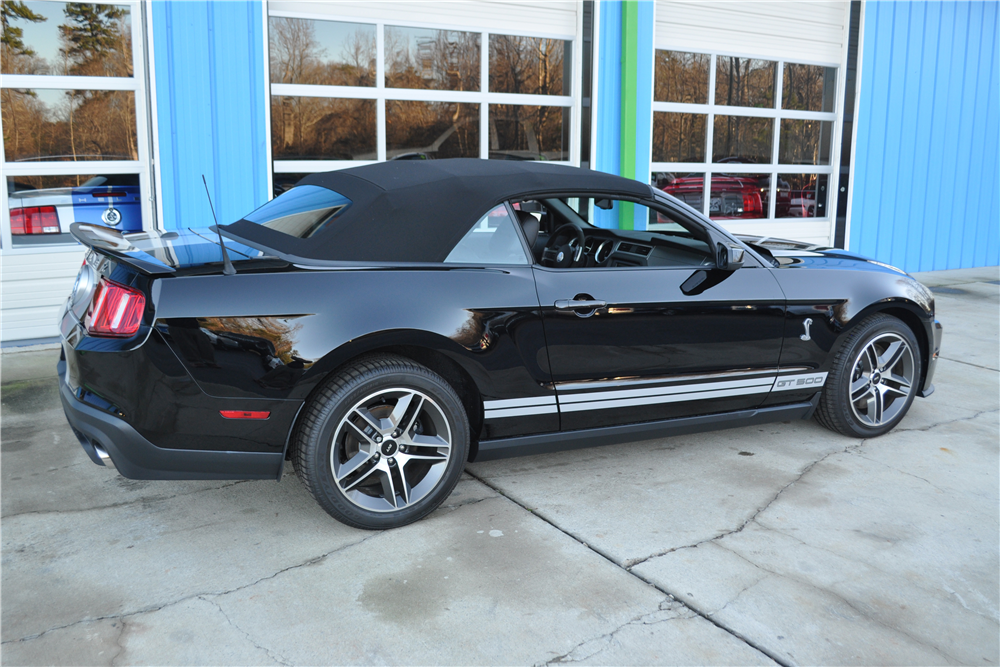 2010 SHELBY GT500 CONVERTIBLE - Front 3/4 - 189950