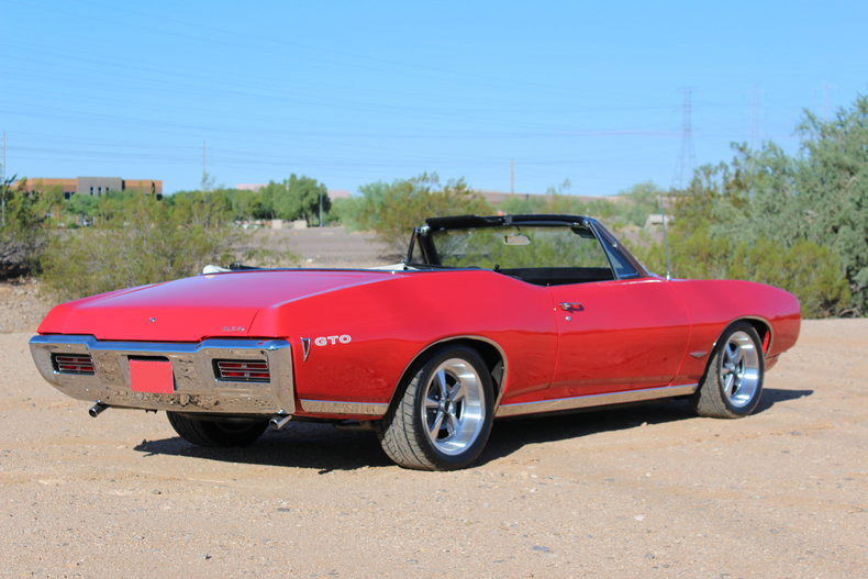 1968 PONTIAC GTO CONVERTIBLE - Rear 3/4 - 189956