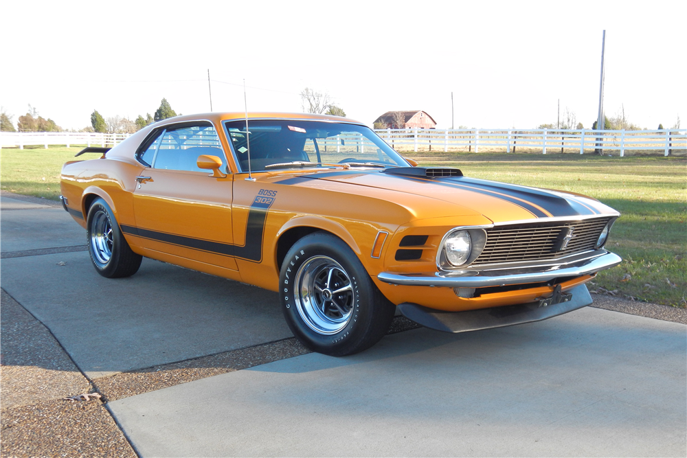 1970 FORD MUSTANG BOSS 302 FASTBACK - Front 3/4 - 189981