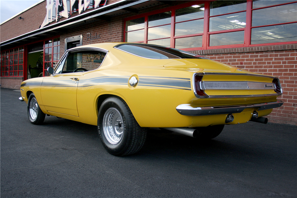 1967 PLYMOUTH BARRACUDA FASTBACK - Rear 3/4 - 189993