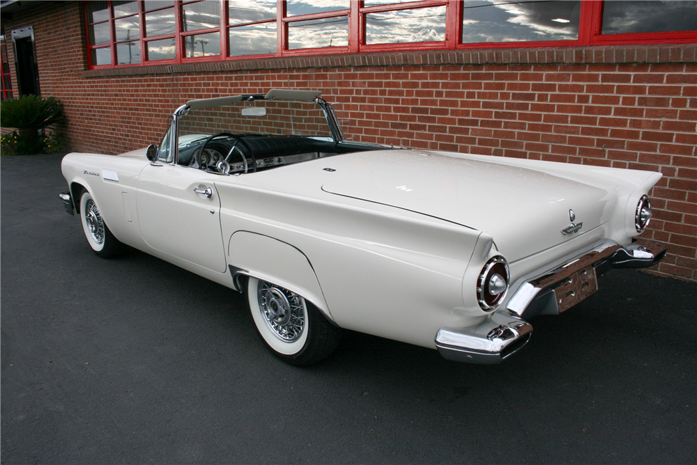 1957 FORD THUNDERBIRD CONVERTIBLE - Rear 3/4 - 189998
