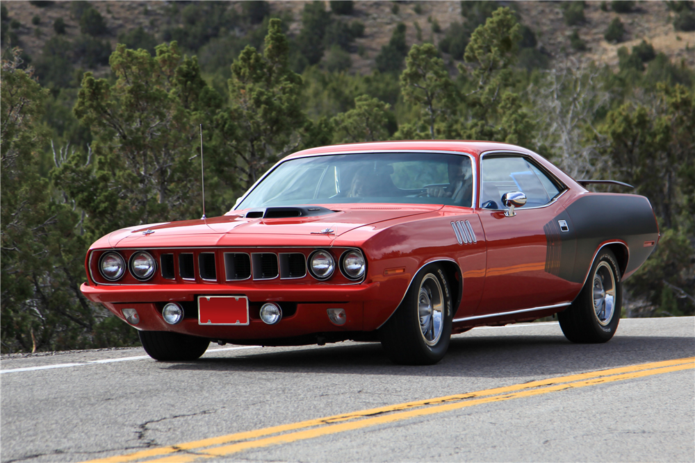 1971 PLYMOUTH 'CUDA HEMI RE-CREATION - Front 3/4 - 190037