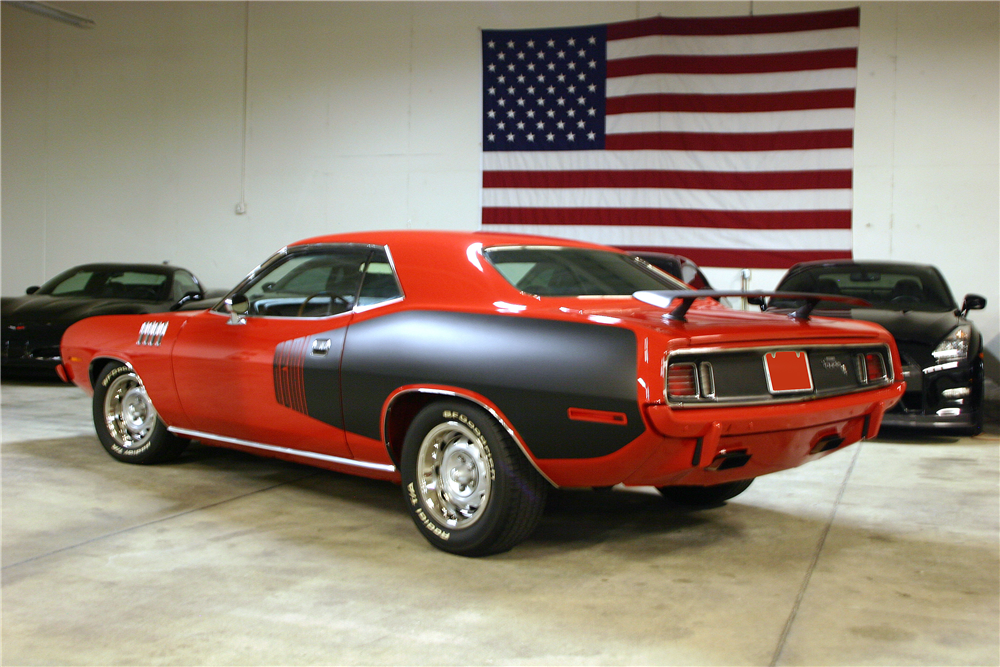 1971 PLYMOUTH 'CUDA HEMI RE-CREATION - Rear 3/4 - 190037