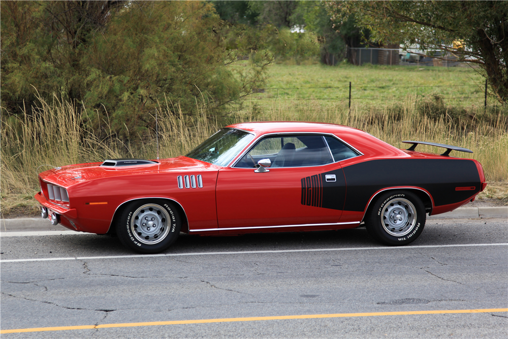 1971 PLYMOUTH 'CUDA HEMI RE-CREATION - Side Profile - 190037