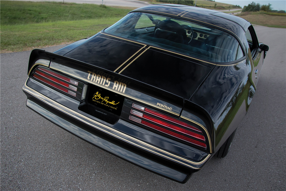 "1977 PONTIAC FIREBIRD TRANS AM ""SMOKEY AND THE BANDIT"" PROMO CAR - Rear 3/4 - 190067"
