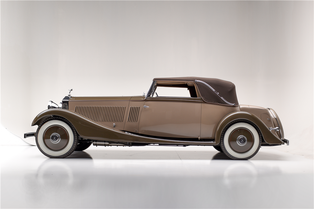 1934 ROLLS-ROYCE PHANTOM II KELLNER CABRIOLET - Side Profile - 190070