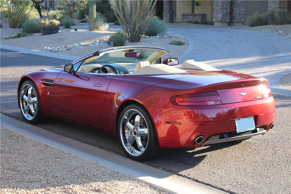 2008 ASTON MARTIN VANTAGE CONVERTIBLE - Rear 3/4 - 190083