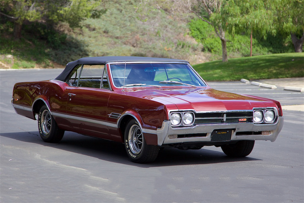 1966 OLDSMOBILE 442 CONVERTIBLE - Front 3/4 - 190088