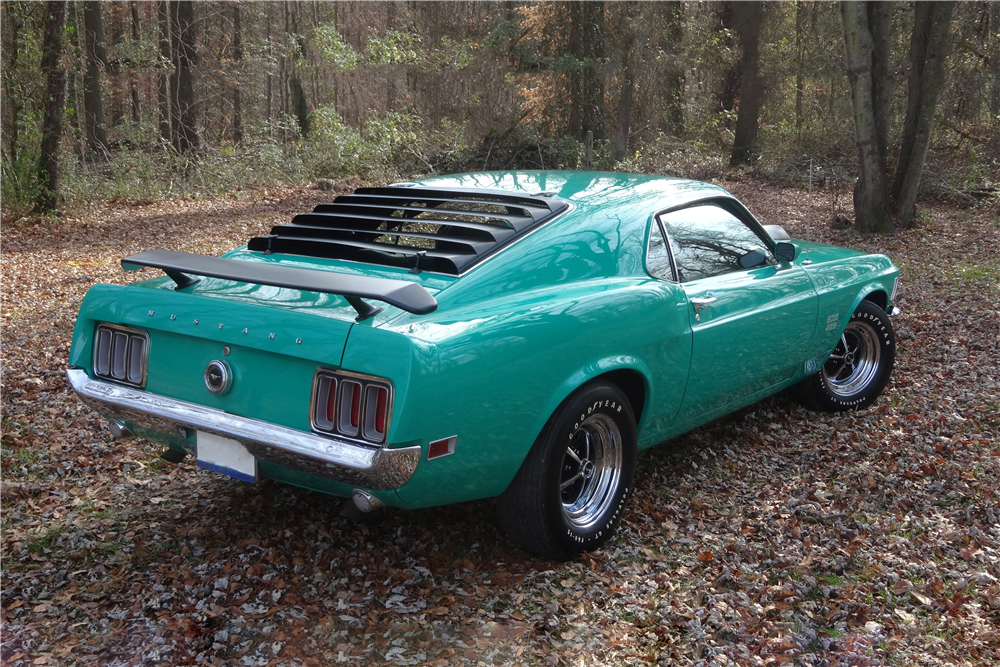 1970 FORD MUSTANG BOSS 429 FASTBACK - Rear 3/4 - 190100