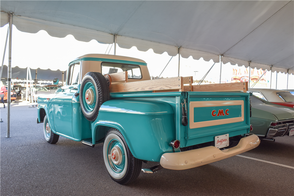 1959 GMC HALF-TON STEPSIDE PICKUP - Rear 3/4 - 190105