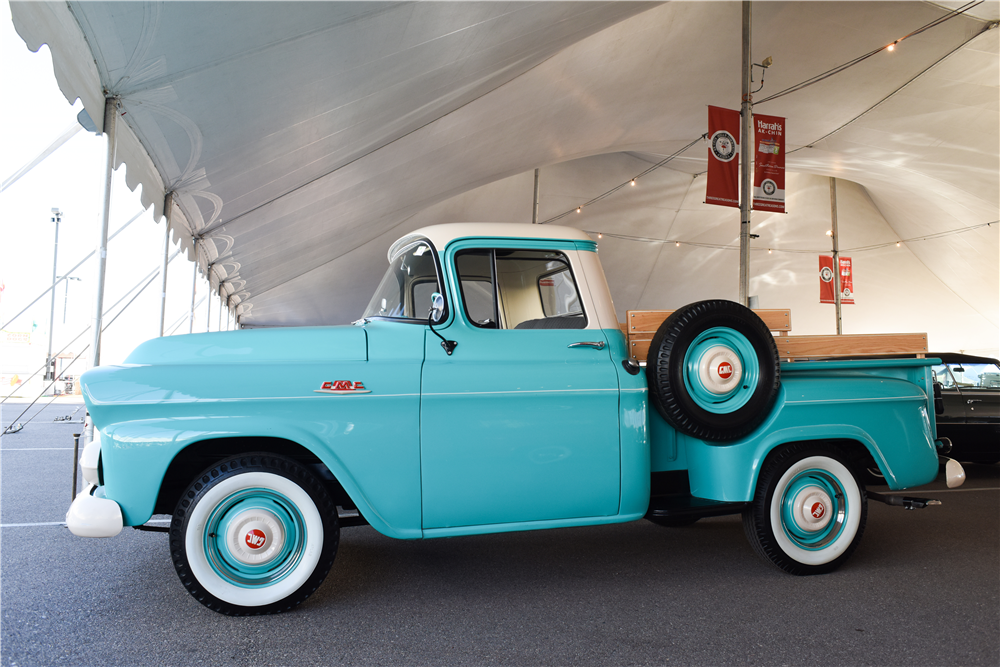 1959 GMC HALF-TON STEPSIDE PICKUP - Side Profile - 190105