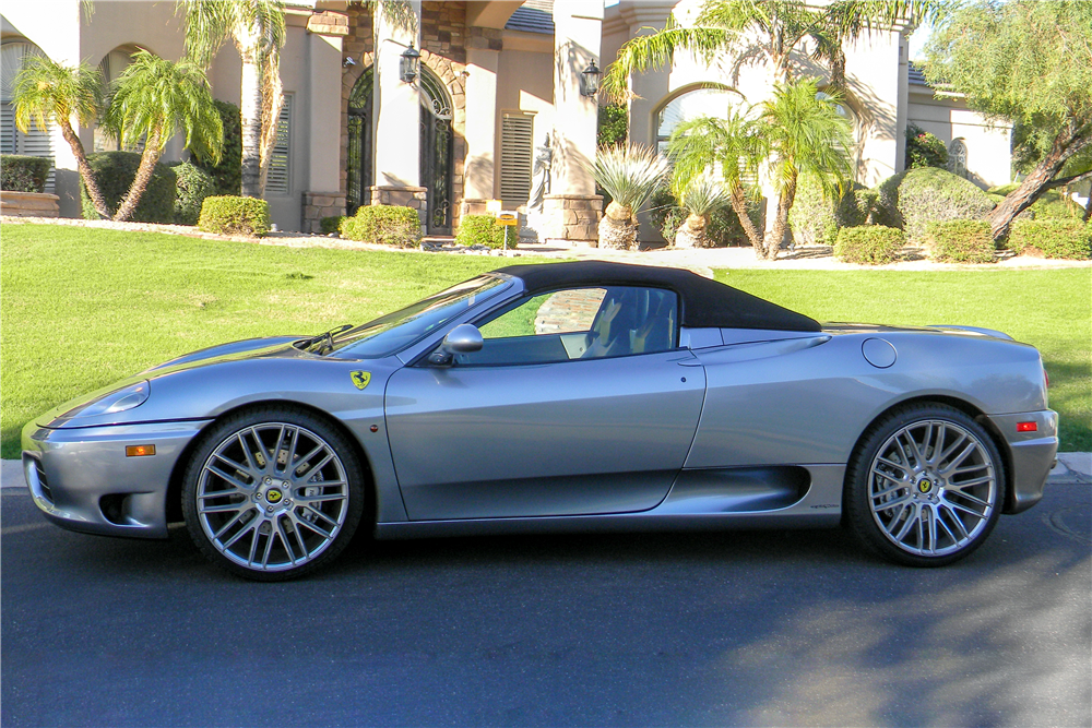 2001 FERRARI 360 F-1 SPYDER - Side Profile - 190108