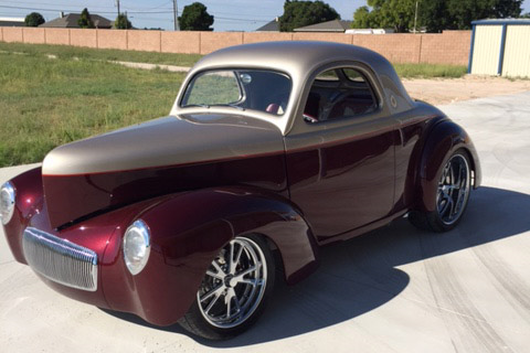 1941 WILLYS CUSTOM COUPE - Front 3/4 - 190110
