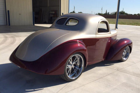 1941 WILLYS CUSTOM COUPE - Rear 3/4 - 190110