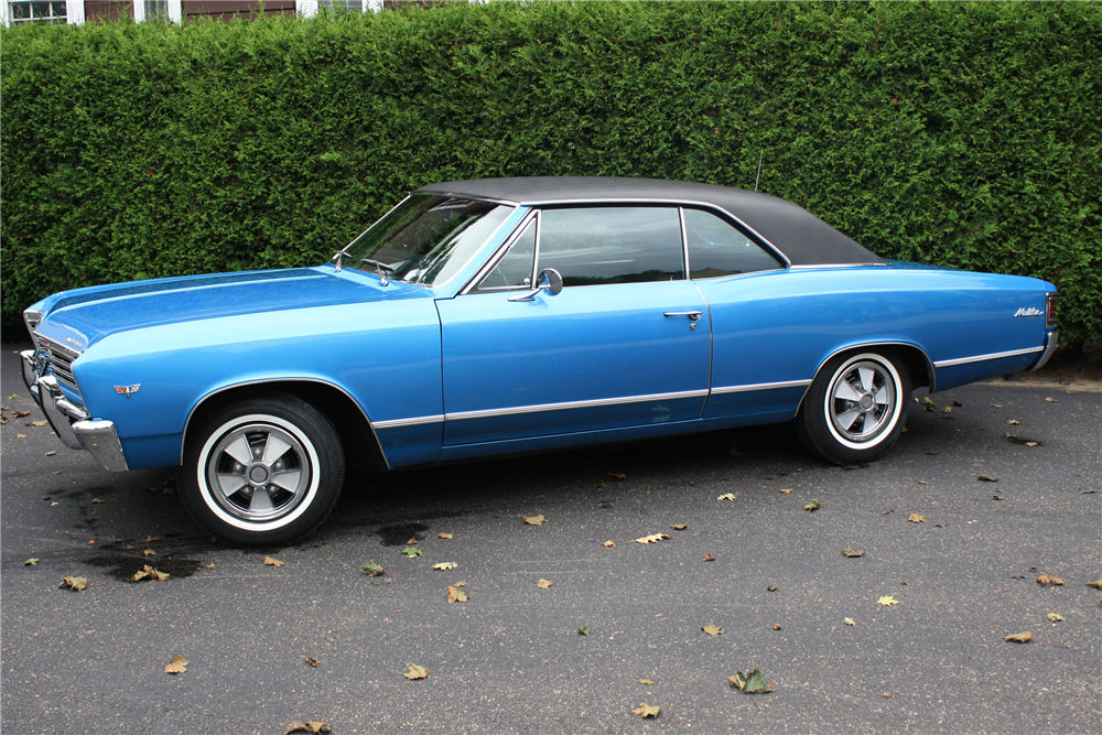 1967 CHEVROLET CHEVELLE MALIBU  - Side Profile - 190139