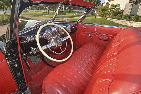 1941 CADILLAC SERIES 62 CONVERTIBLE - Interior - 190154