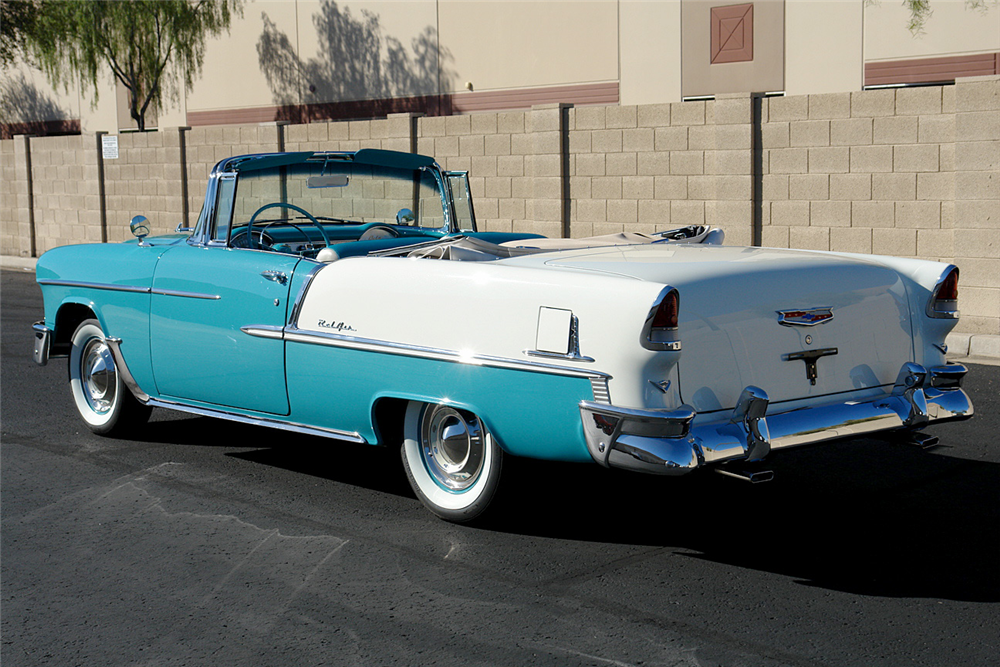 1955 CHEVROLET BEL AIR CONVERTIBLE - Rear 3/4 - 190157