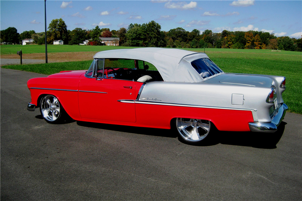 1955 CHEVROLET BEL AIR CUSTOM CONVERTIBLE - Side Profile - 190158