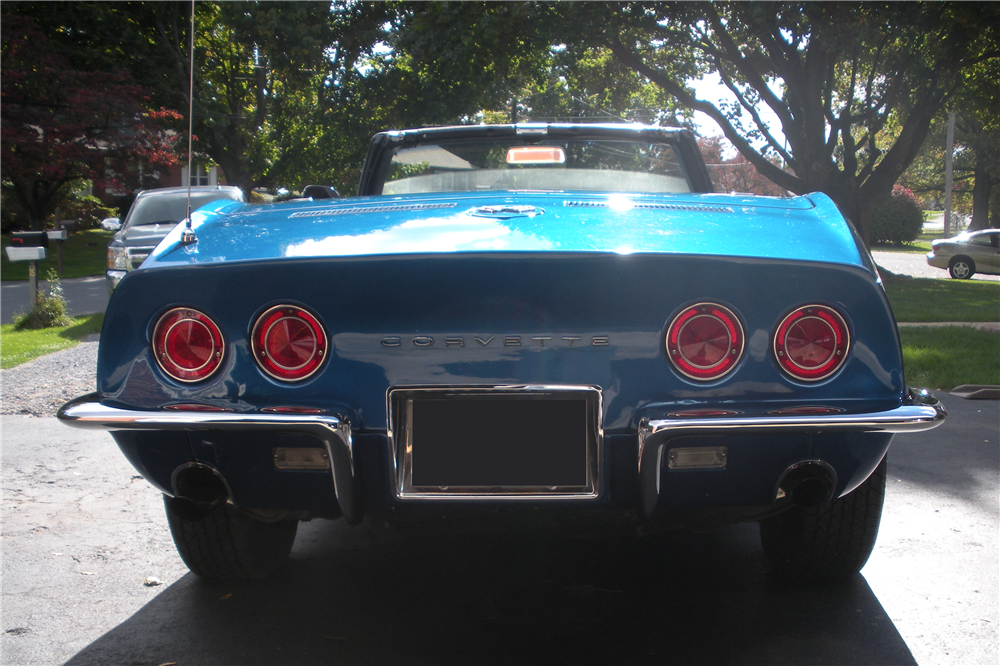 1968 CHEVROLET CORVETTE CONVERTIBLE - Rear 3/4 - 190162