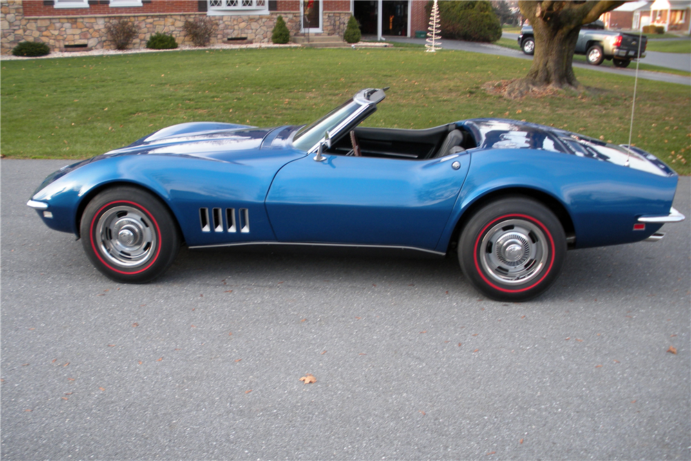 1968 CHEVROLET CORVETTE CONVERTIBLE - Side Profile - 190162