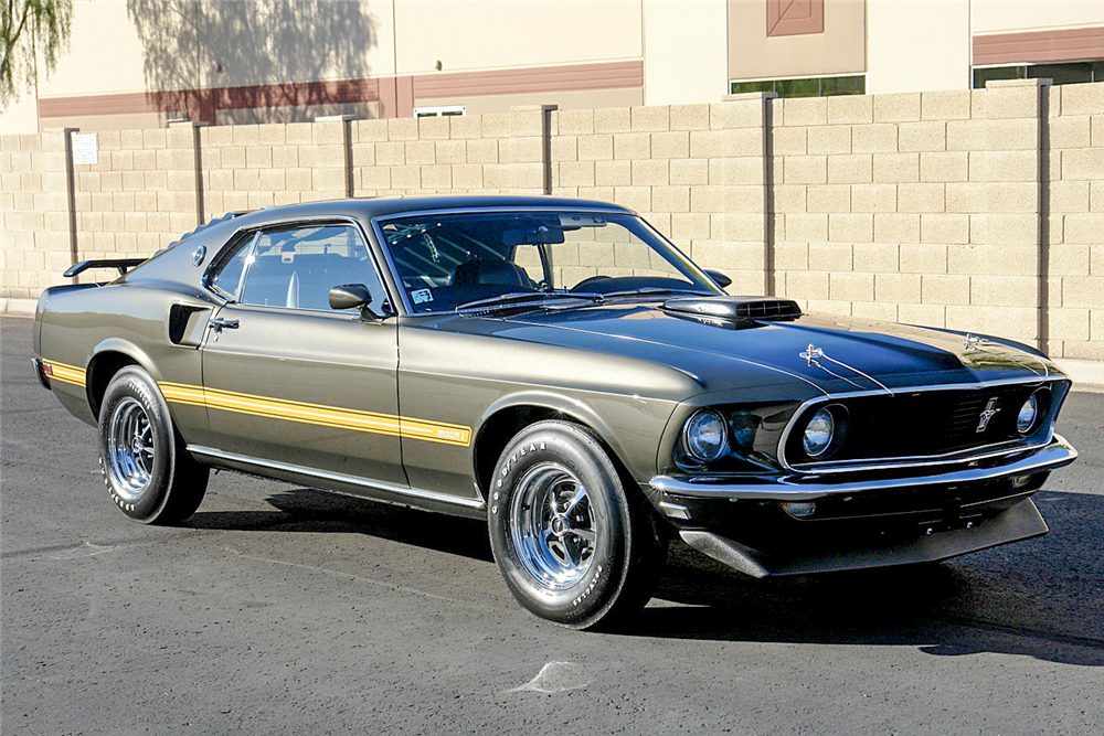 1969 FORD MUSTANG MACH I 428 SCJ FASTBACK - Front 3/4 - 190167