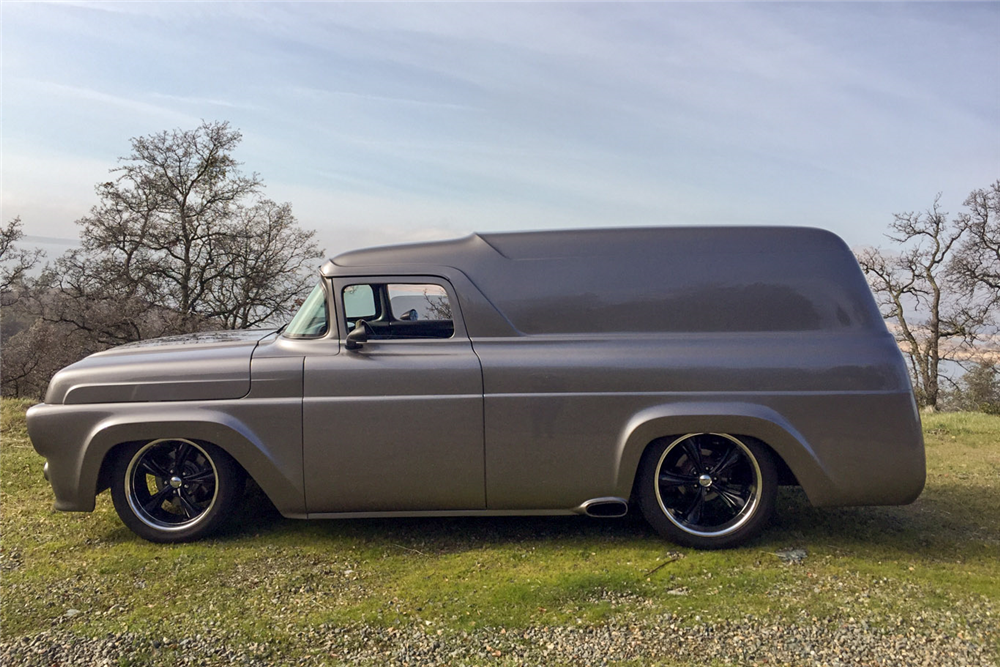 1957 FORD CUSTOM PANEL VAN - Side Profile - 190172