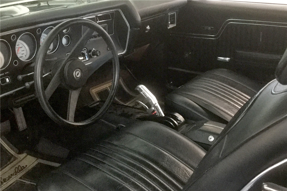 1972 CHEVROLET CHEVELLE CUSTOM CONVERTIBLE - Interior - 190181