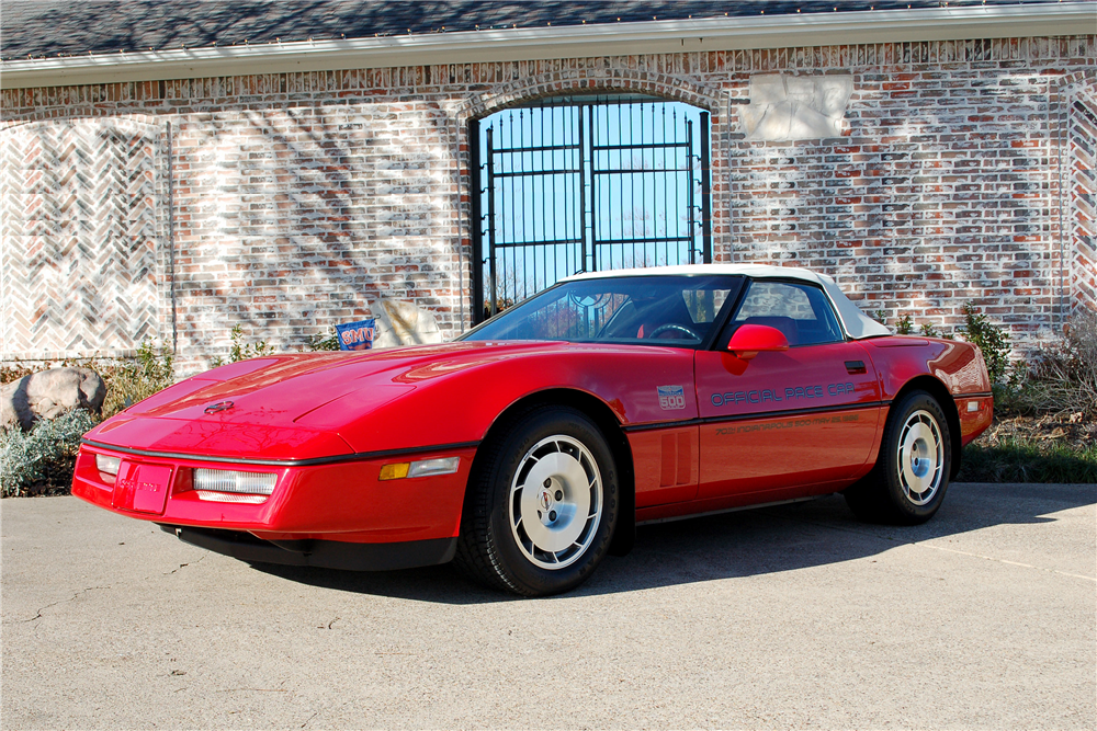 1986 CHEVROLET CORVETTE CONVERTIBLE - Front 3/4 - 190254