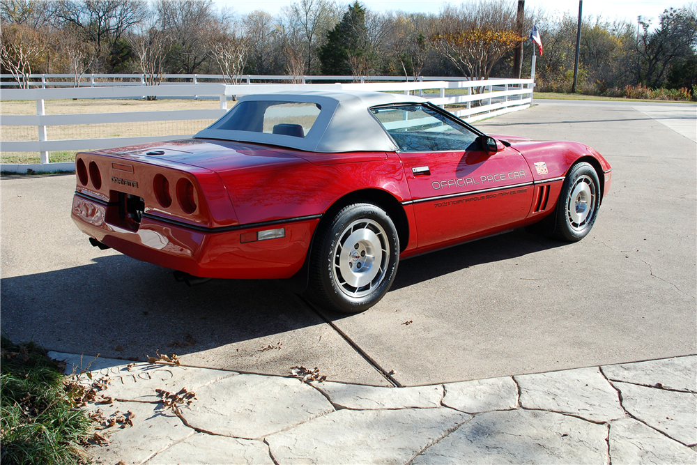 1986 CHEVROLET CORVETTE CONVERTIBLE - Rear 3/4 - 190254