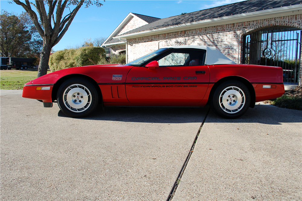 1986 CHEVROLET CORVETTE CONVERTIBLE - Side Profile - 190254